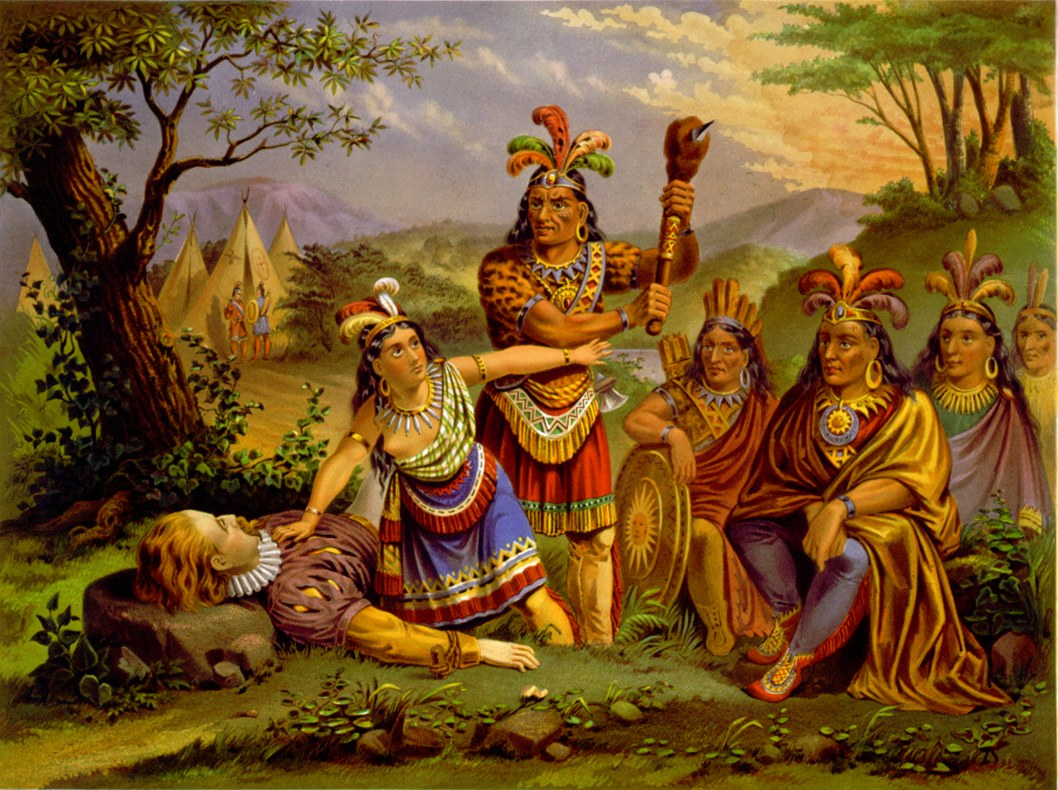 Painting of Pocahontas saving John Smith